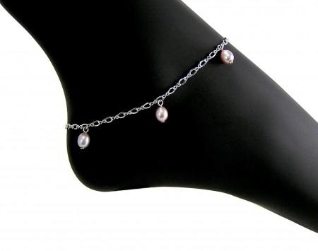 Lavender Freshwater Pearl Anklet