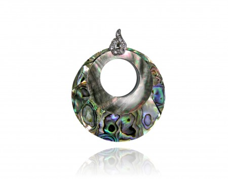 Mother Of Pearl Circle Slider Pendant