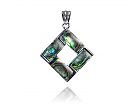 Mother Of Pearl Square Slider Pendant