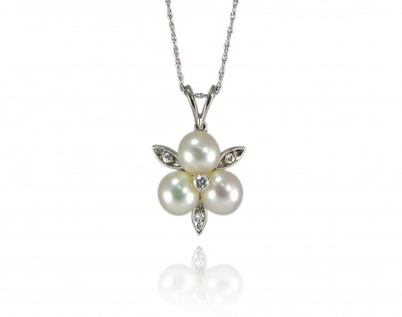 White Saltwater Akoya Pearl Pendant