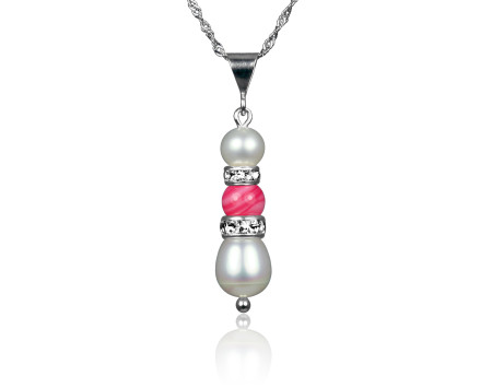 Freshwater Pearl and Pink Mother-of-Pearl Pendant