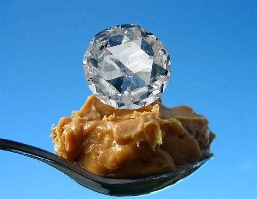 Peanut Butter Diamonds